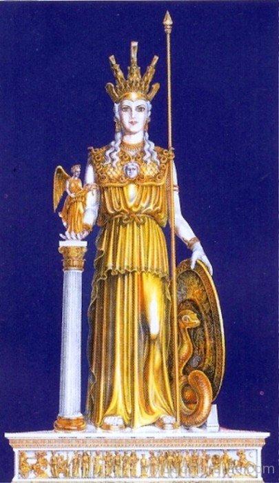 Golden Statue Of Athena-rg515