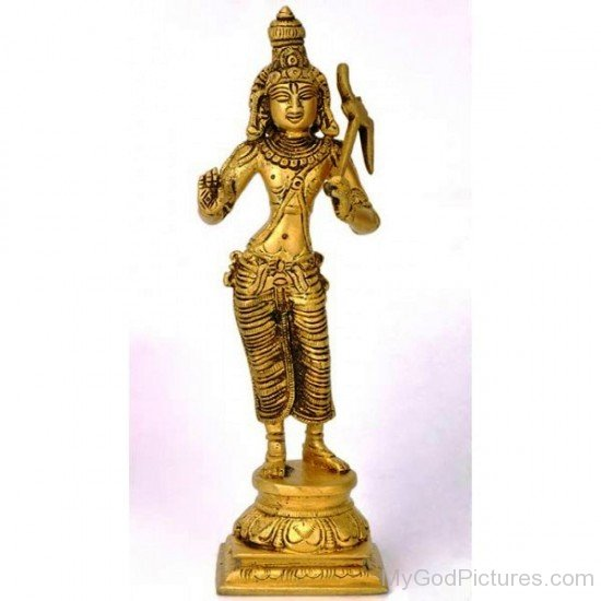 Golden Statue Of Balarama-fb512
