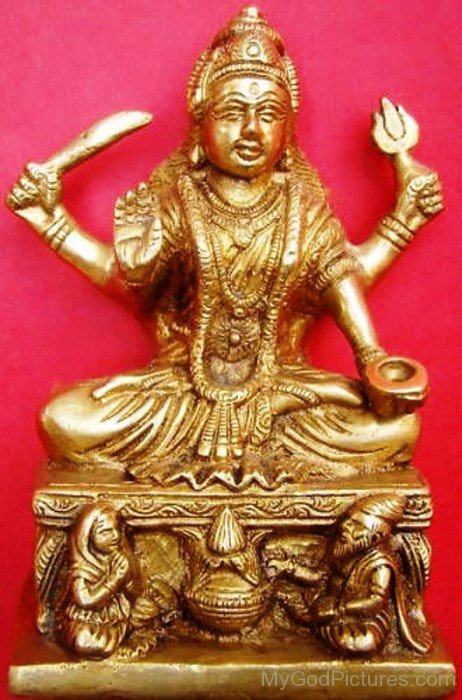 Golden Statue Of Goddess Santoshi-bv905