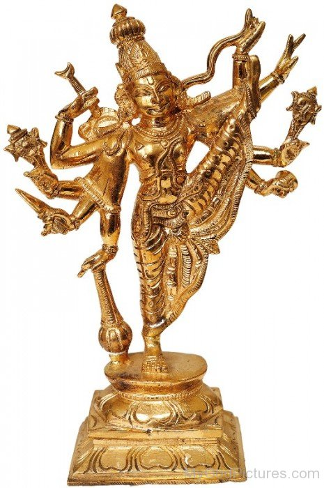 Golden Statue Of Vamana-bg303