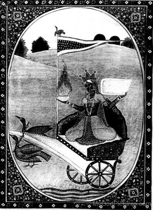 Image Of Goddess Dhumavati-cb711