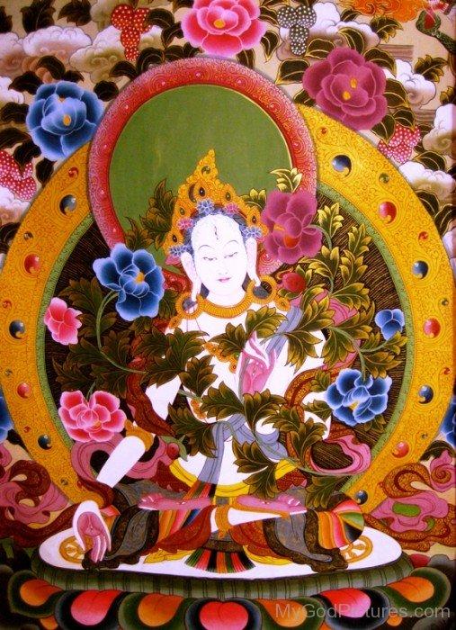 Image Of Goddess White Tara-gb3422
