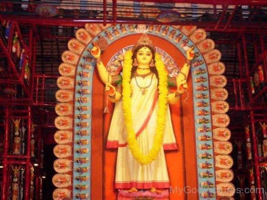 Jagaddhatri Goddess Image-ed22