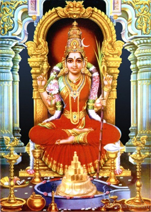 Kamakshi Goddess Picture-ty209