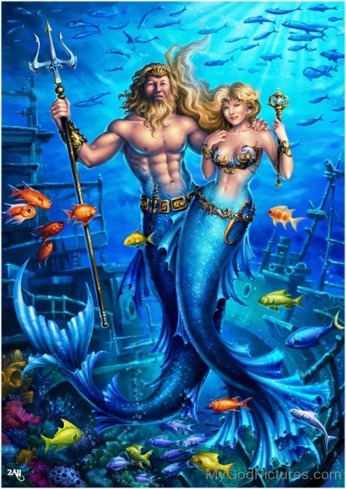 King Neptune With His Queen-mu714