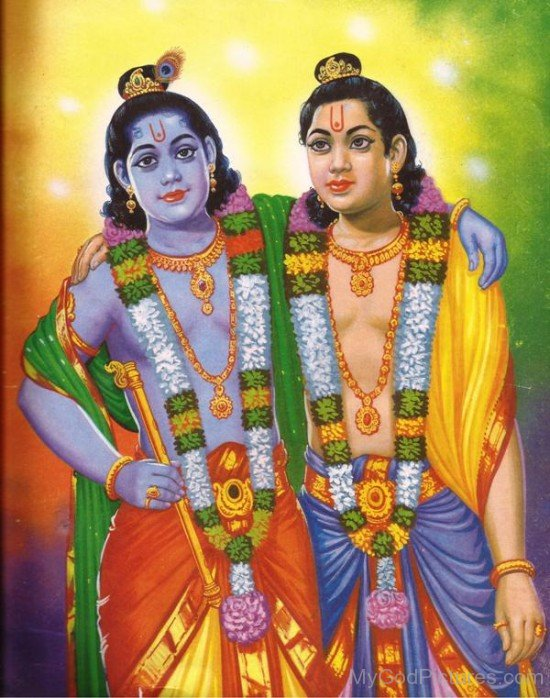 Lord Balarama And Lord Krishna-fb514