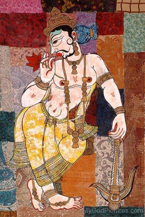 Lord Balarama Portrait-fb518