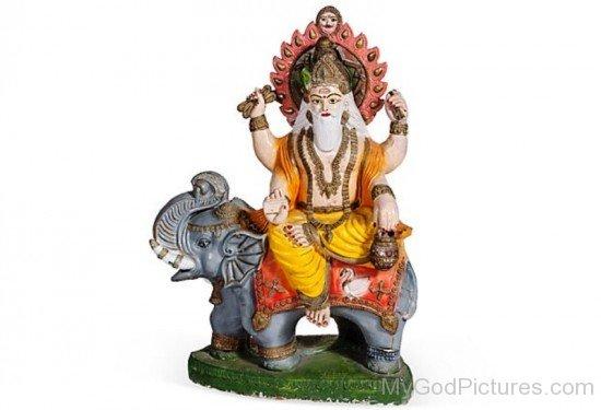 Lord Brhaspati Statue-fr311