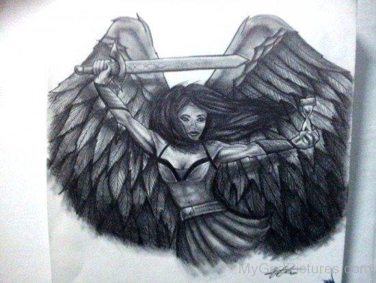 Nemesis Goddess Drawing-qw204