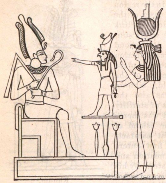 Osiris,Horus And Isis-re326