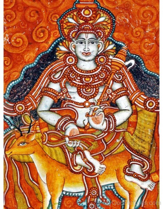 Painting Of Dhanvantari