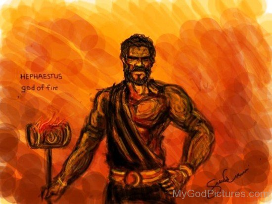 Painting Of God Hephaestus-UM916