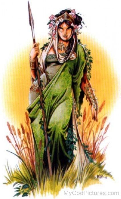 Painting Of Goddess Ceres-bm907