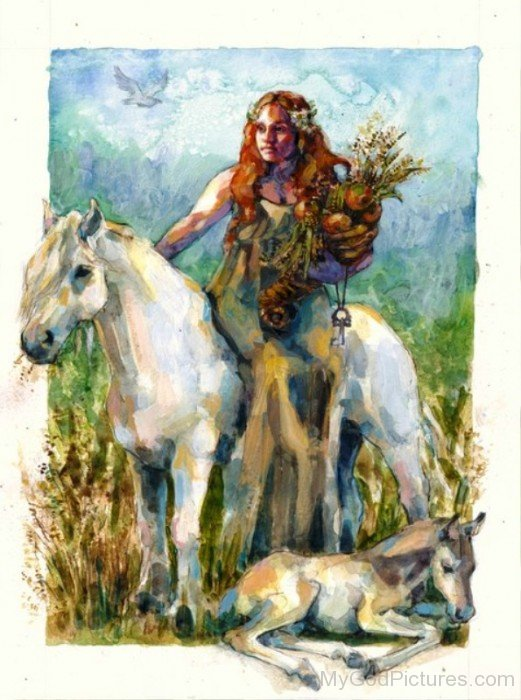 Painting Of Goddess Epona-fd513