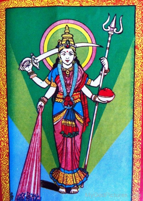 Painting Of Goddess Santoshi-bv909