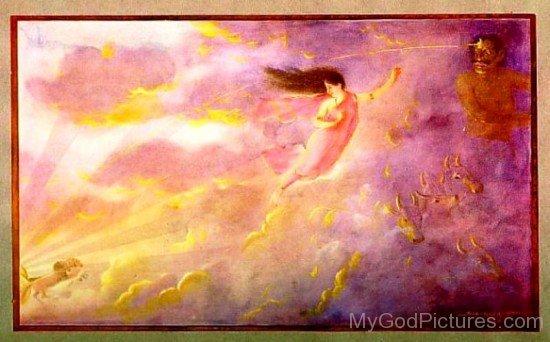 Painting Of Goddess Ushas-yb14