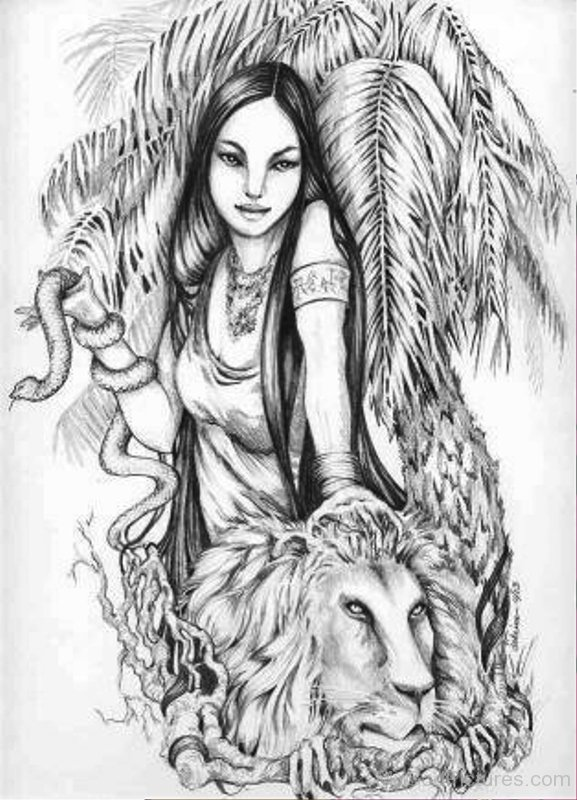 Pencil drawing of inanna yt613