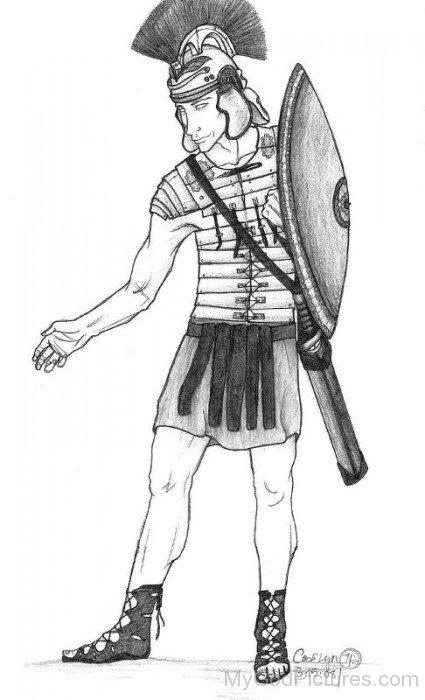 Pencil Sketch Of God Mars-yt817