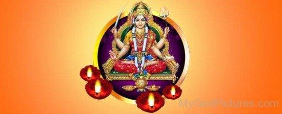 Photo Of Goddess Santoshi-bv910
