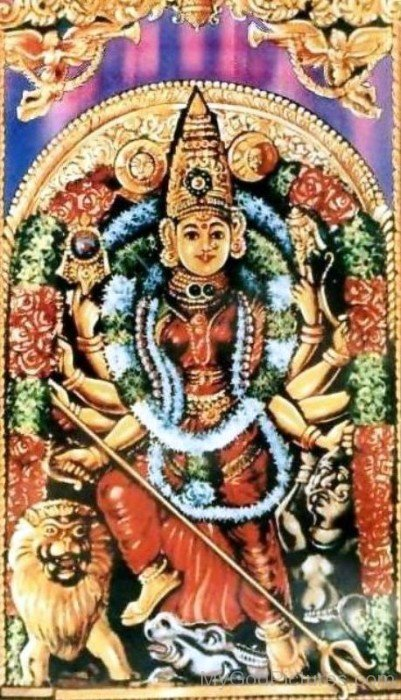 Picture Of Goddess Kanaka Durga-da18