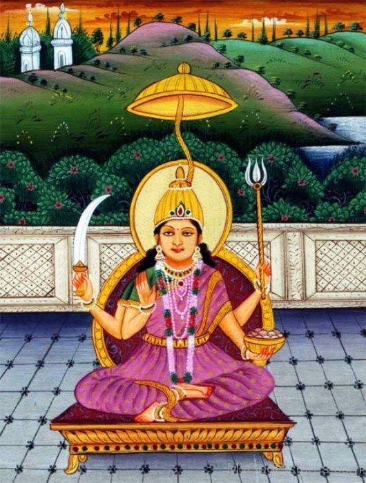 Picture Of Goddess Santoshi-bv911