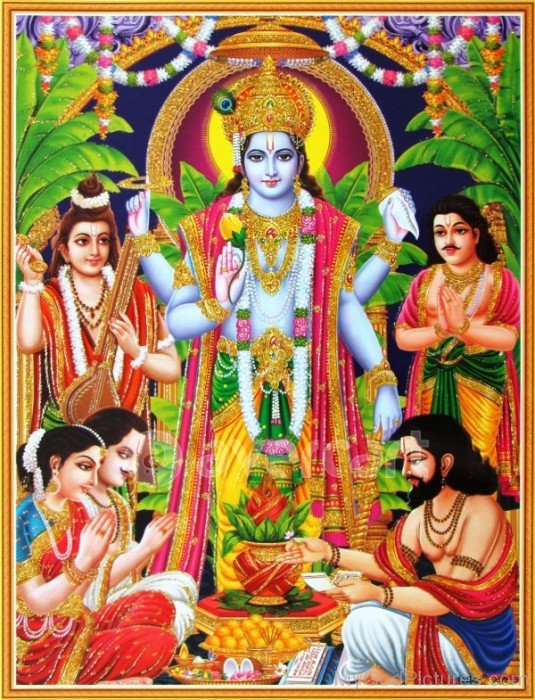 Picture Of Lord Satyanarayana-ws213