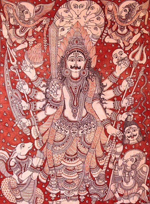 Portrait Of God Virabhadra-uk805