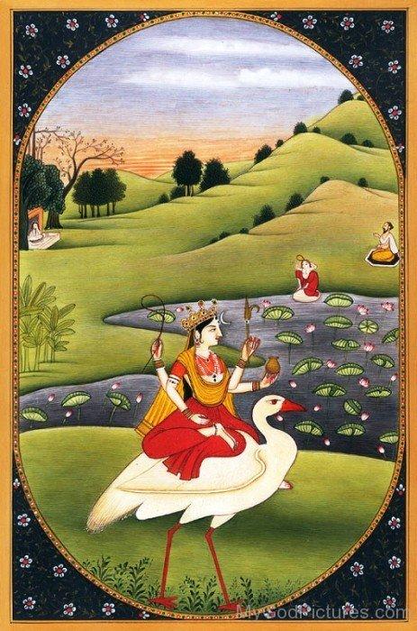 Portrait Of Goddess Brahmani-hj66