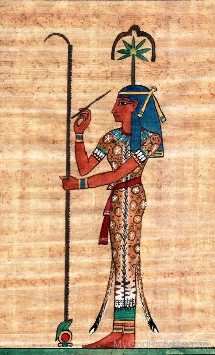 Portrait Of Goddess Seshat