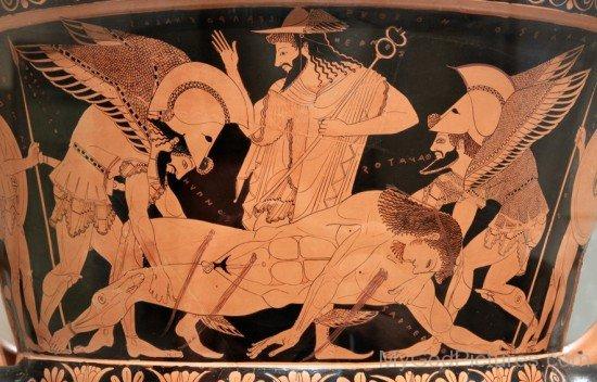 Portrait Of Hypnos,Thanatos,Sarpedon And Hermes