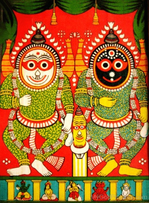 Portrait Of Jagannath,Balabhadra And Subhadra-we215