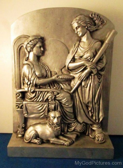 Sculpture Of Cybele And Hecate-gn607