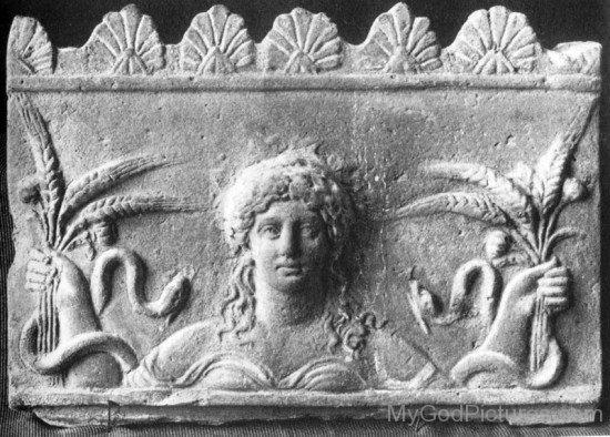 Sculpture Of Demeter-re712