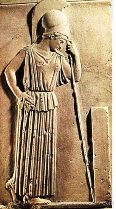 Sculpture Of Goddess Athena-rg521