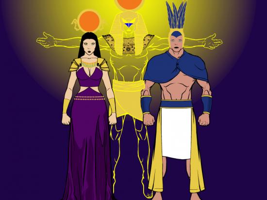 Shu And Tefnut-ce308