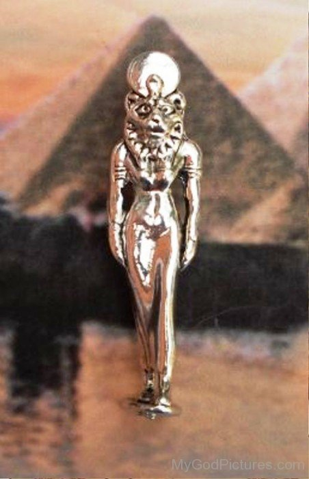 Silver Statue Of Sekhmet-tb521