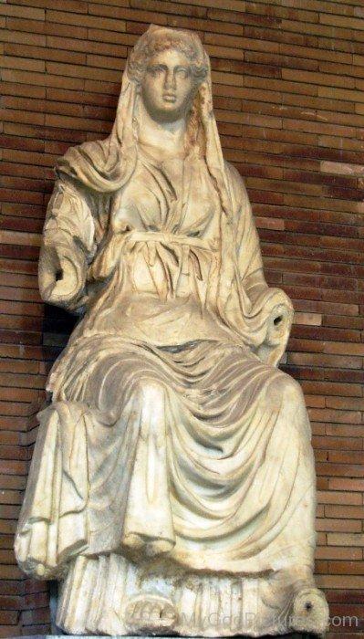Sitting Statue Of Ceres-bm908