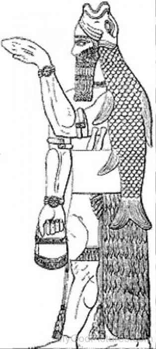 Sketch Of Apkallu-fr311
