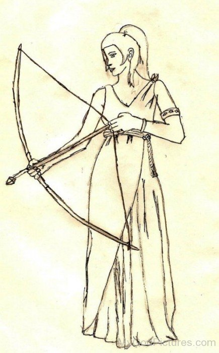 Sketch Of Artemis-ds423