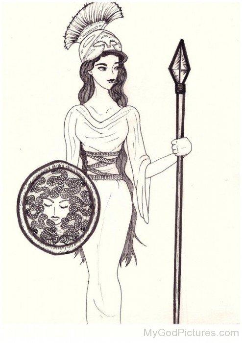 Sketch Of Athena-rg522