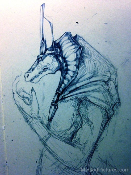 Sketch Of God Sobek-vb513