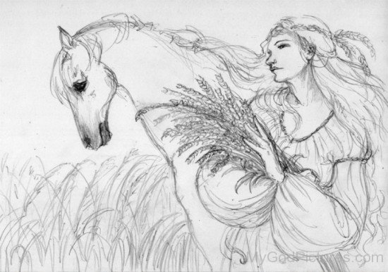 Sketch Of Goddess Epona-fd518
