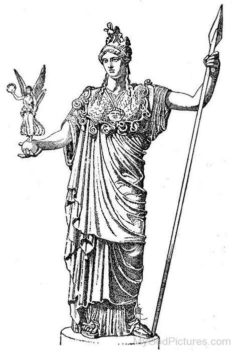 Sketch Of Goddess Juno-up909
