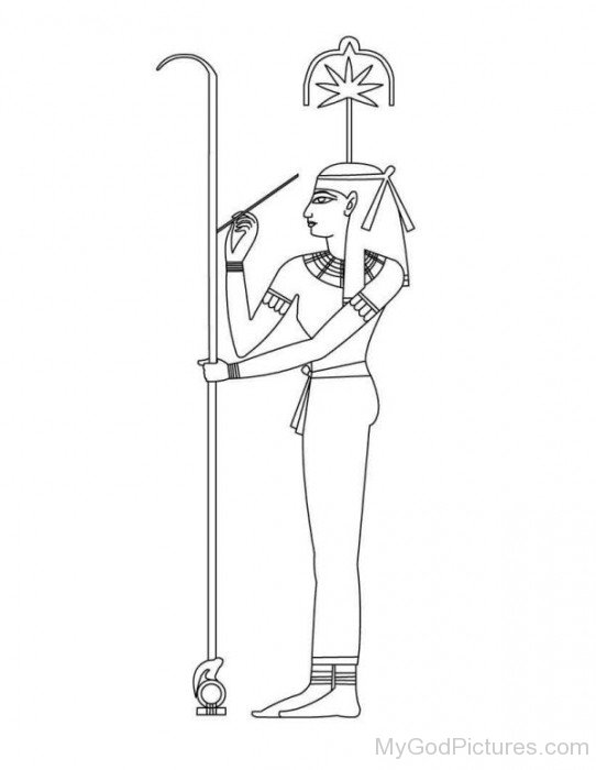 Sketch Of Goddess Seshat-hg310