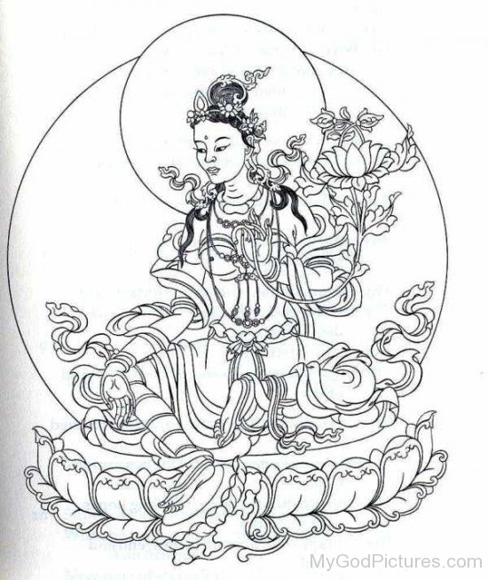 Sketch Of Goddess Tara-gb3432