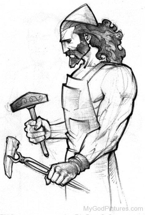 Sketch Of Hephaestus-UM918