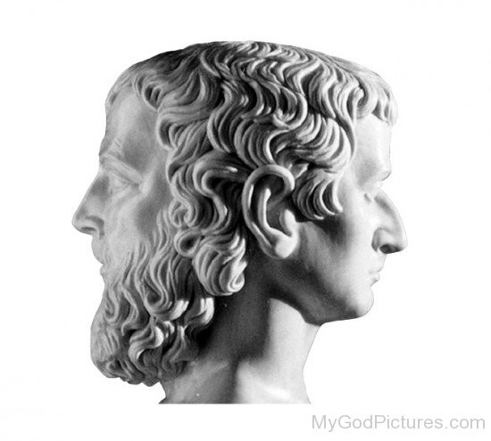 Statue Face Of Janus