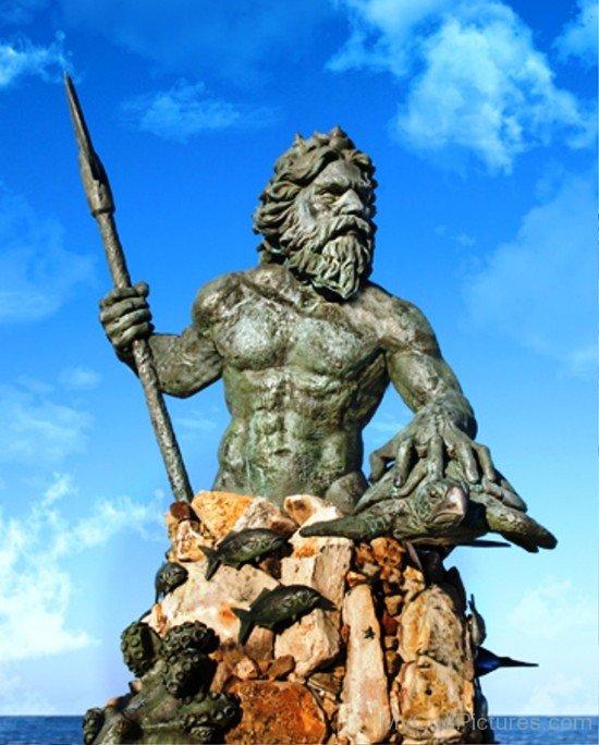 Statue Of God Neptune-mu723