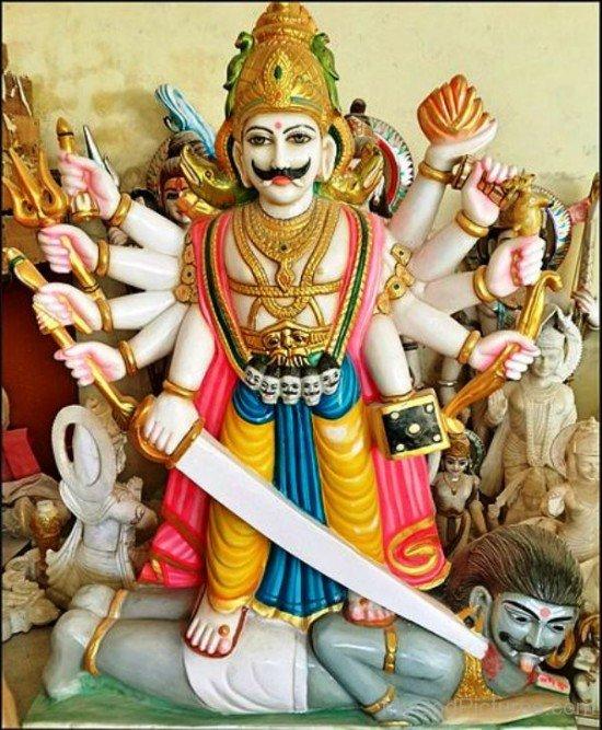 Statue Of God Virabhadra-uk808