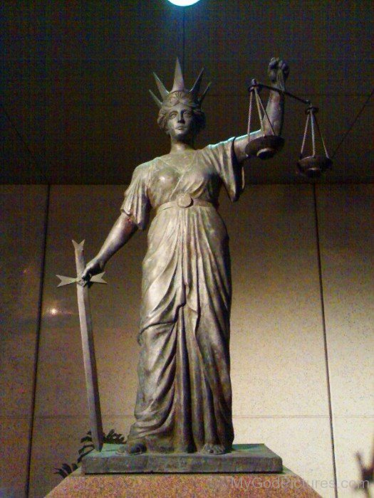 Statue Of Goddess Justitia-hl709